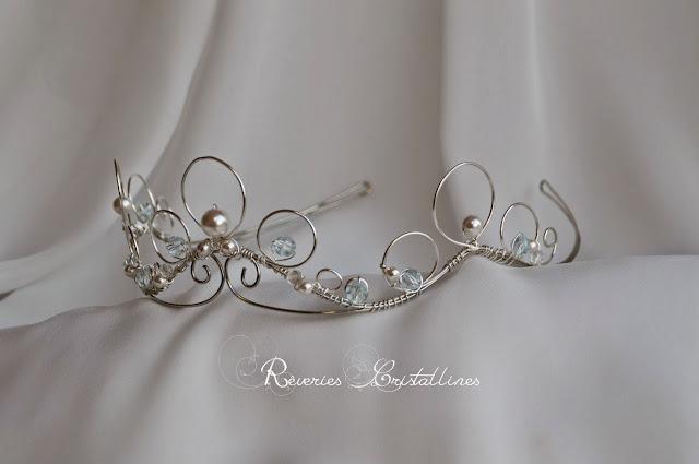 couronne mariée fil de cuivre