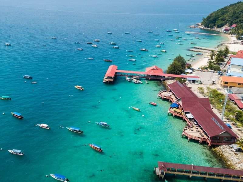 perhentian island on drone