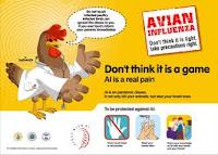 Virus Flu Burung, cara penularan virus flu burung