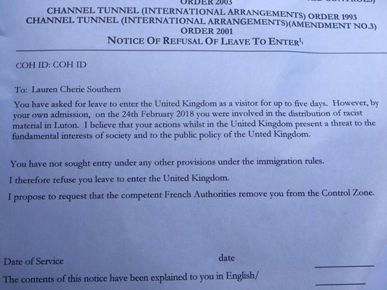 Eye On The World: UK: Canadian banned from entering Britain