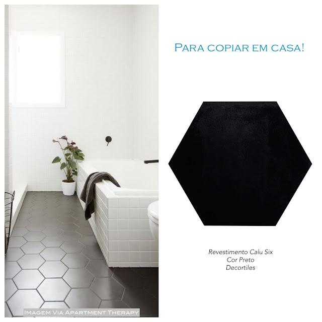 revestimento hexagonal de piso