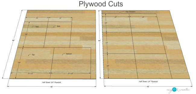 plywood cuts for tray divider to organize your pans and trays in the kitchen