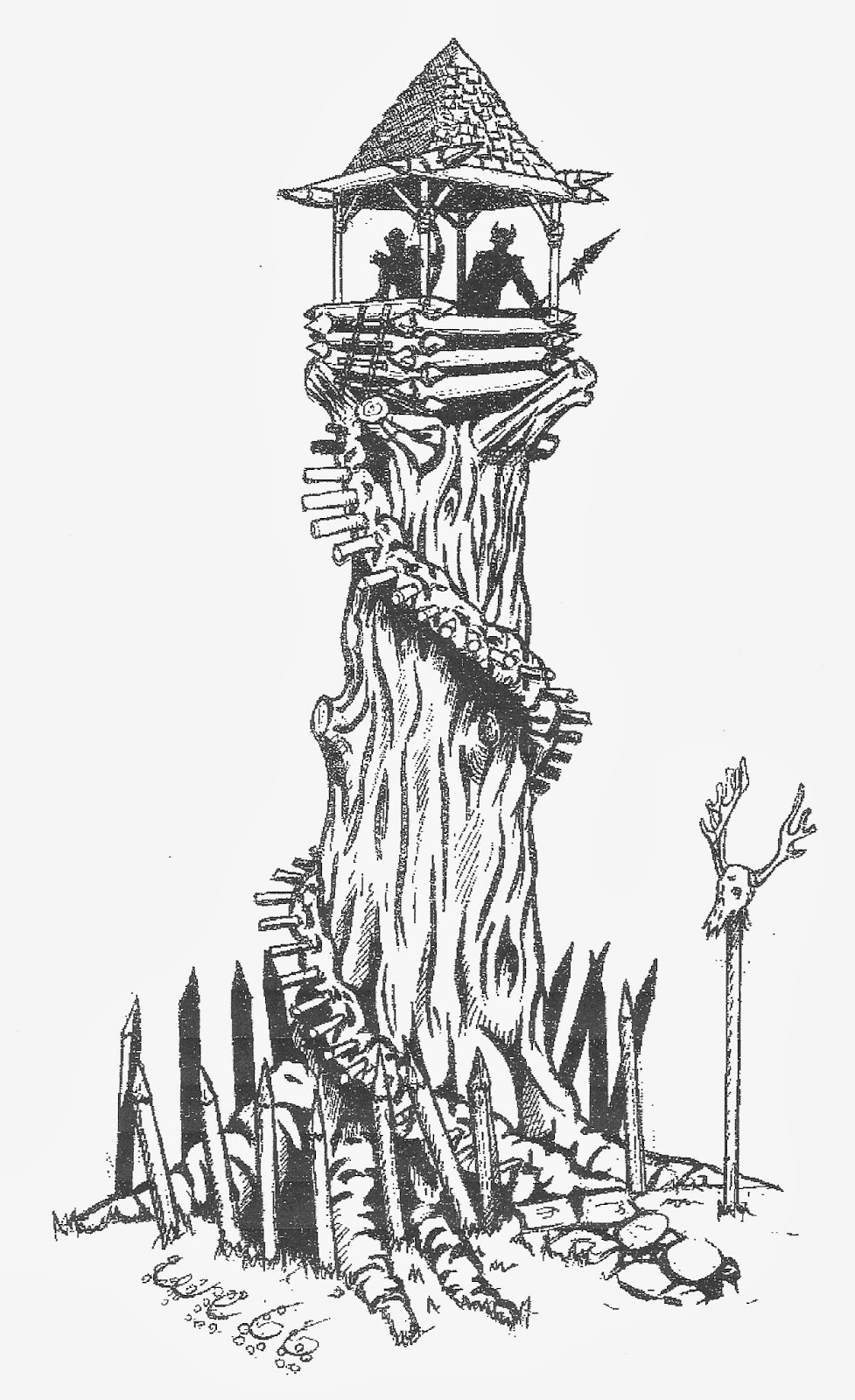 a drawing in a fantasy book