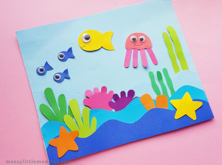 Easy ocean paper craft for kids