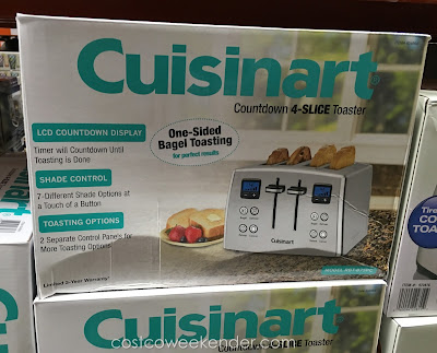 Costco 834664 - Cuisinart RBT-875PC Countdown 4-Slice Toaster - Timer will countdown until toasting is done