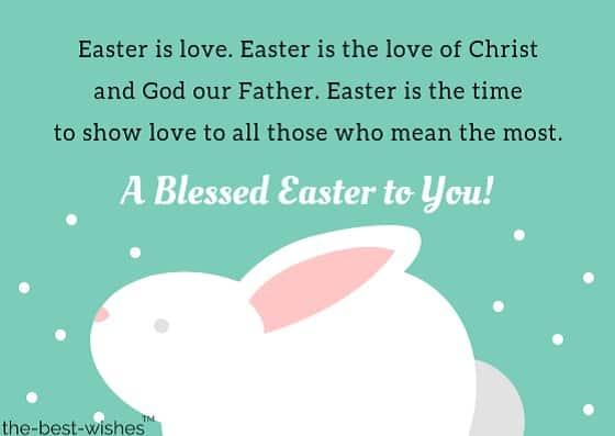 green bunny blessed easter card messages