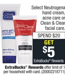 Neutrogena Hand Cream or Acne Care