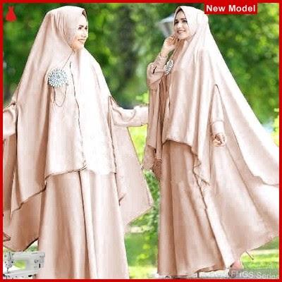 FHGS9100 Model Syari Zulfa Cream, Perempuan Pakaian Muslim Jersey BMG