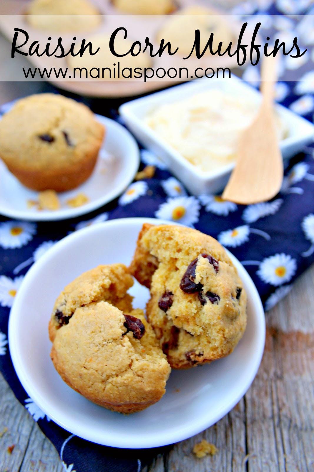 Raisin Corn Muffins