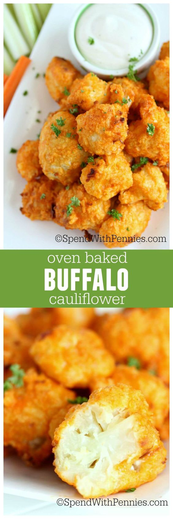 Oven Baked Buffalo Cauliflower