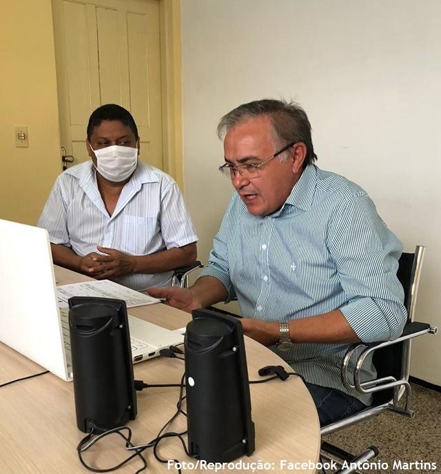 Prefeito Antônio Martins participa de reunião virtual para eleição da Presidência do CGIRS/RMS