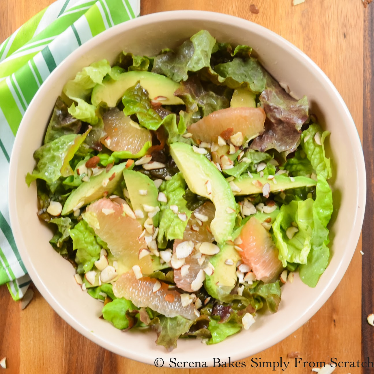 Grapefruit Avocado Salad With Grapefruit Vinaigrette- 17 Healthy Salads That Don't Taste Like Rabbit Food. serenabakessimplyfromscratch.com