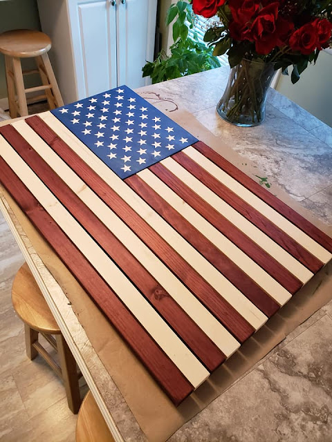 ricci crafting company rustic wood american flag