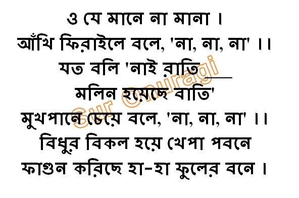 O Je Mane Na Mana Lyrics (ও যে মানে না মানা)