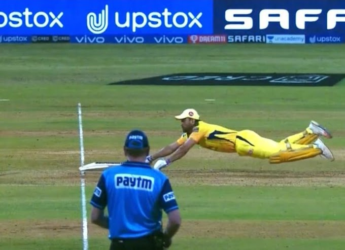 Watch: MS Dhoni puts a full-stretched dive against Rajasthan Royals in IPL 2021