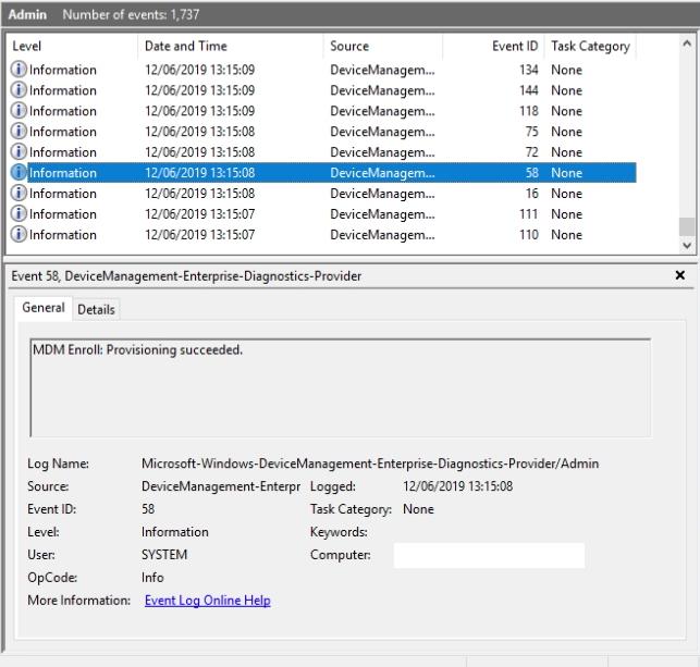 Troubleshooting Azure AD Hybrid Join and Intune AutoEnrollMDM