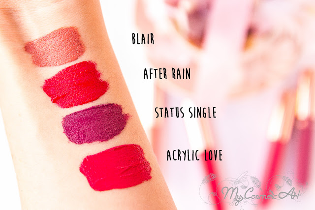 Nabla Love Kit de cuatro labiales líquidos mate. ¡Swatches!