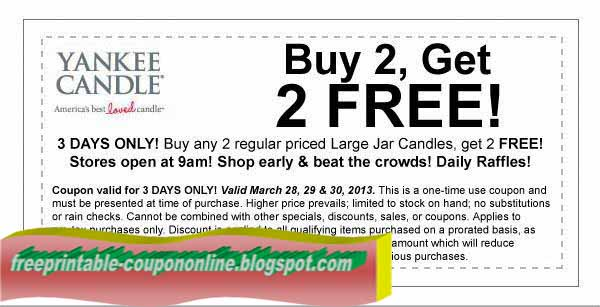 graphic about Yankee Candle Printable Coupons named Printable Discount coupons 2019: Yankee Candle Discount coupons