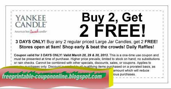 Yankee candle coupon codes