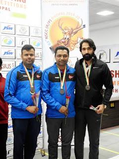नैशनल शूटिंग चैंपियनशिप 63वीं में दिल्ली के अर्पित गोयल ने रैपिड फायर पिस्टल में गोल्ड मेडल जीता।