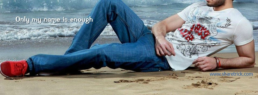 Only my name is enough quote cover photos for FB Boy is one of the coolest timeline banner photo for boys and their FB accounts plus other Social Profiles Boy waiting with luggages facebook cover