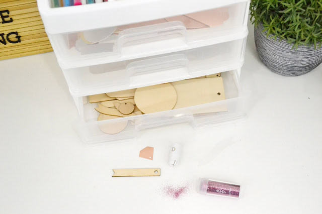 Aly Dosdall_3 Drawer Storage filled with the Quill Kits by We R Memory Keepers