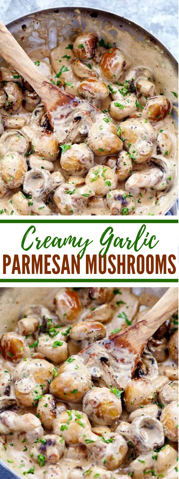 CREAMY GARLIC PARMESAN MUSHROOMS #lunch #dinner
