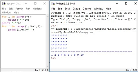 ICT For All Classes : Python program to print number pattern