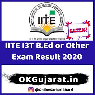IITE B.Ed Exam Result 2020