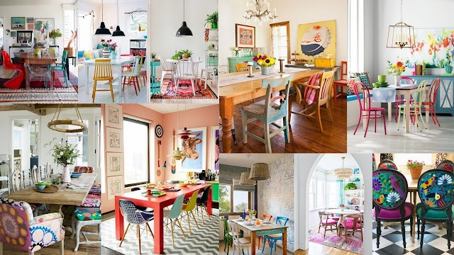 Τρόποι και συνδυασμοί για να δημιουργήσετε μια Τραπεζαρία γεμάτη ...χρώμα