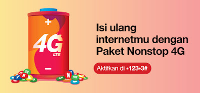 Paket Internet 3 (Tri) Terbaru 2018