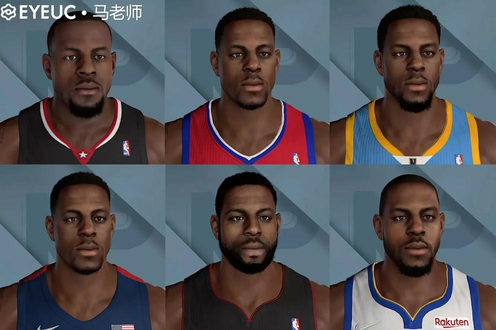 NBA 2K22 Andre Iguodala Cyberfaces, Hair and Body Model Mega Pack All Versions by teacher Ma