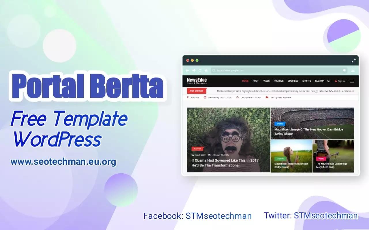 Download Template WordPress Portal Berita, Gratis!