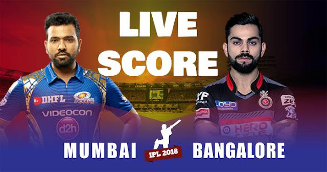 IPL 2018 Match 14 MI vs RCB Live Score and Full Scorecard