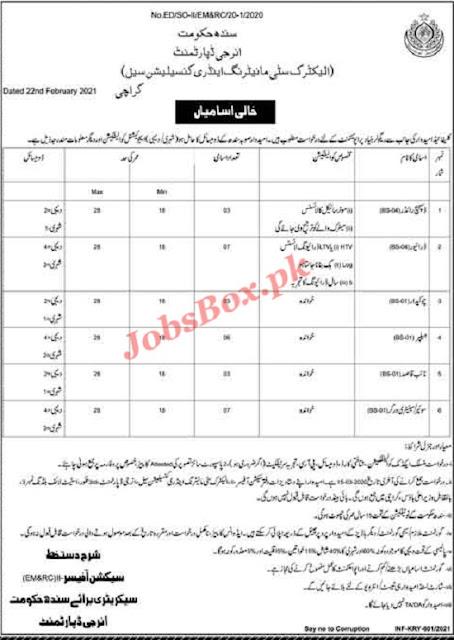 energy-department-sindh-jobs-2021-advertisement-application-form-latest