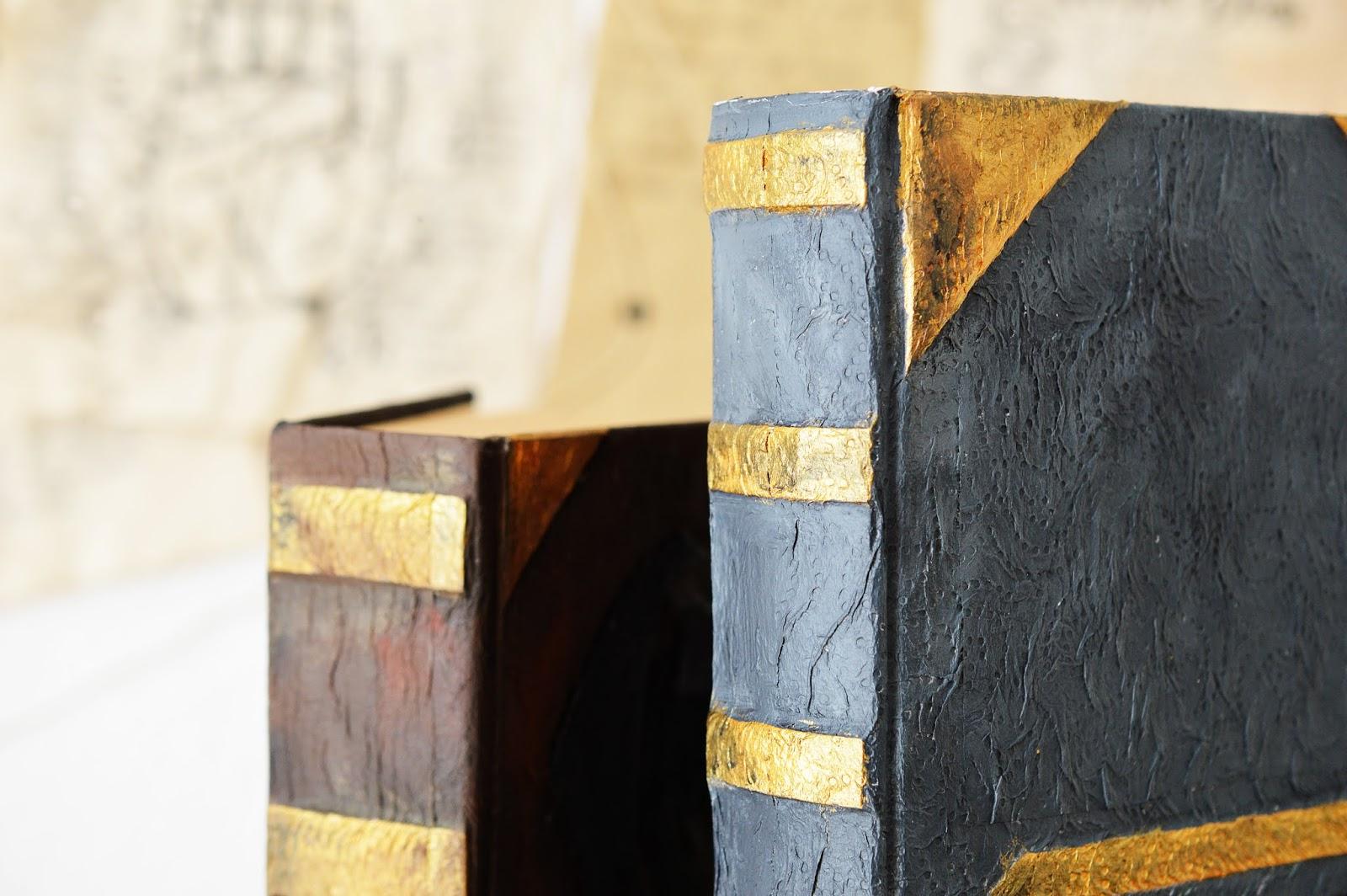 spine of a DIY Papier-Maché Spell Book