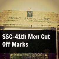 SSC-41th Men Cut Off Marks