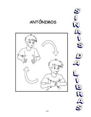 sinais de libras de antônimos