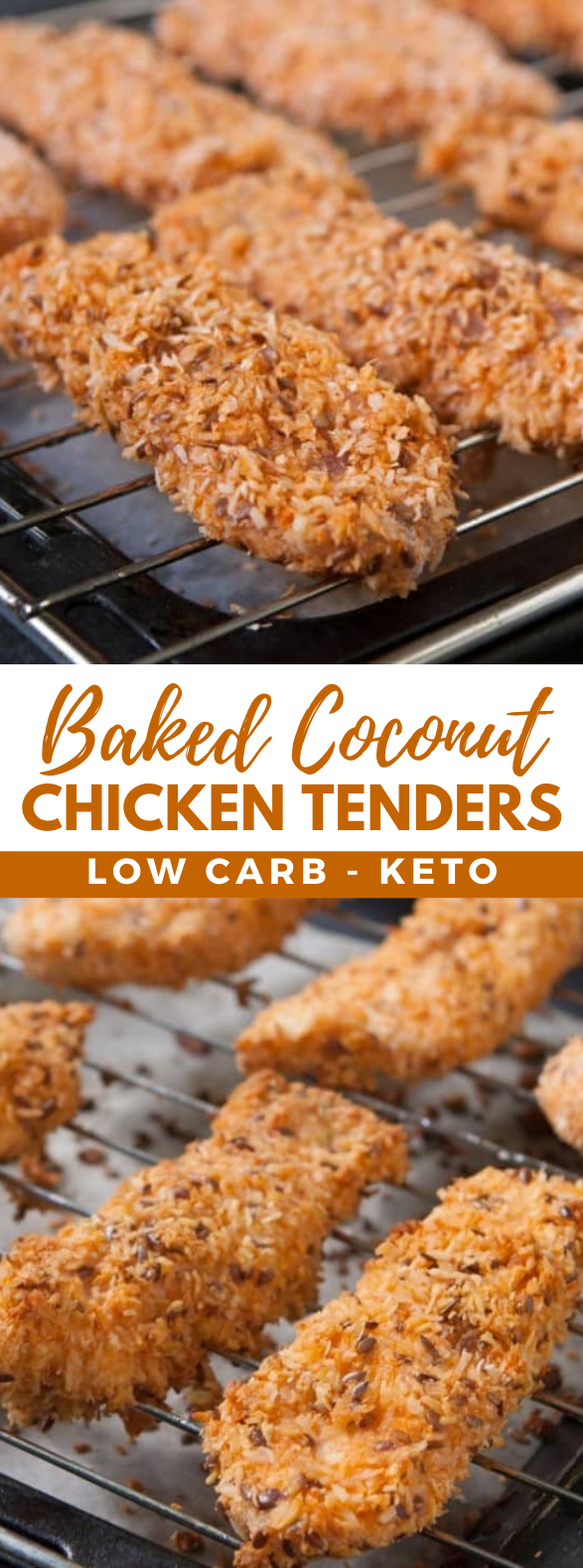 Baked Coconut Chicken Tenders with Flaxseeds #ketofriendly #lunch