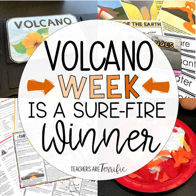 A Resource Round-up for Volcanoes! This post includes an Escape Room, STEM Challenges, Task Cards, Flipper Books, and Reading Passages! All about Volcanoes and Landforms!
