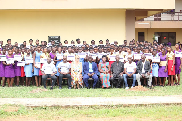 "169 High School Students In Nkwanta South Receive ""Be A Girl"" Awards"