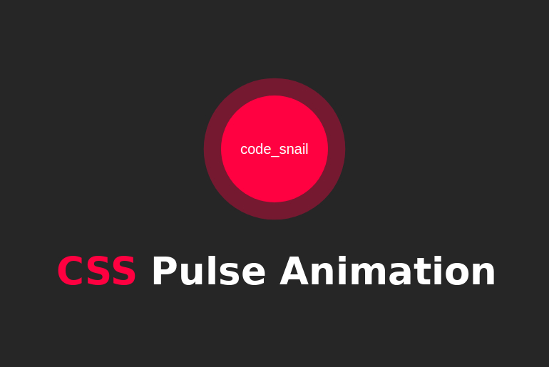 css pulse animation