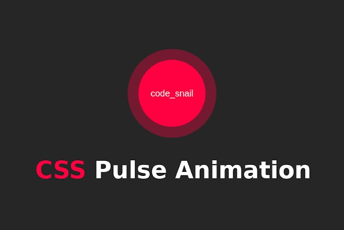 CSS Pulse Animation Effect