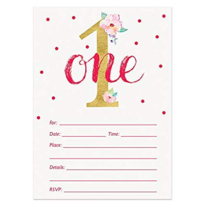 1st Birthday Invitations wording sample