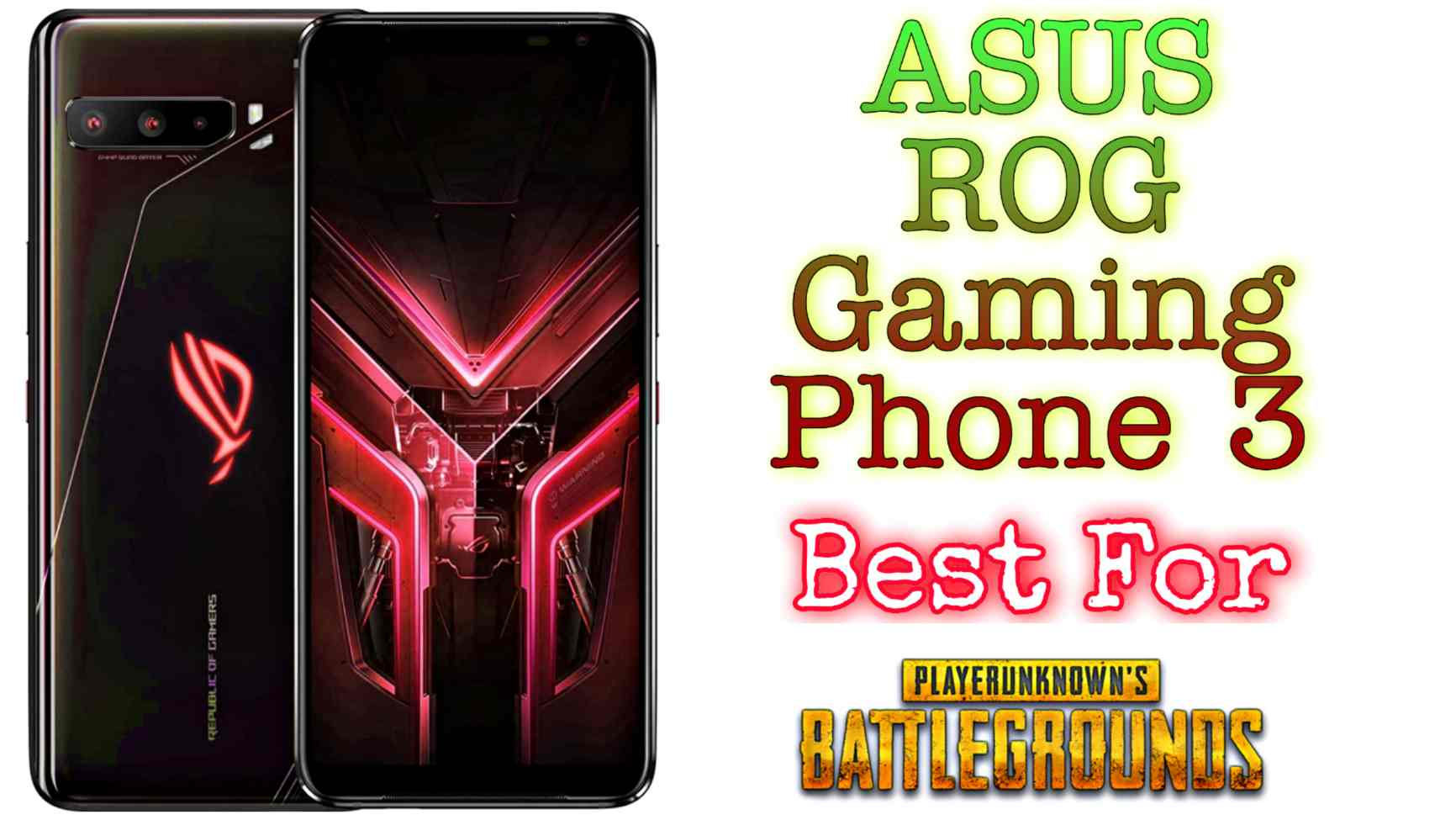 Assus RoG 3 for gaming