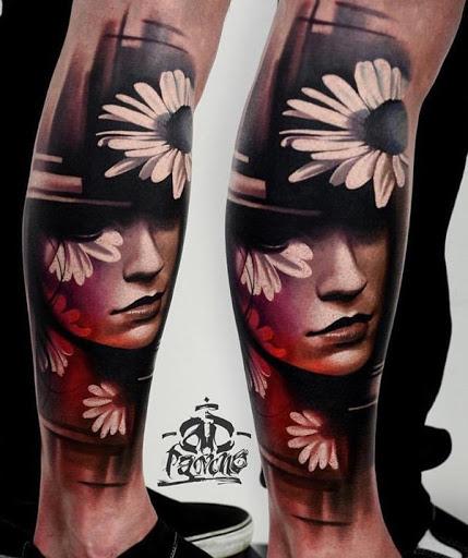 Para ser capaz de obter um maravilhosamente feito tatuagem, você precisará da ajuda de um bom tatuador. O efeito 3D neste retrato design pode ser difícil de alcançar, portanto certifique-se de que você fala com o seu artista de primeira.
