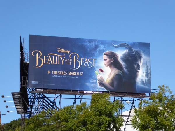 Disney Beauty and the Beast billboard