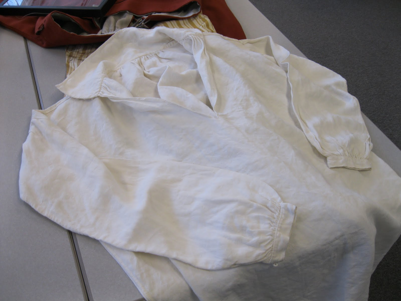 Two Nerdy History Girls: The Finer Points of an 18th c  Man's Shirt