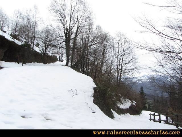 Cueto Ventoso: Pista con nieve