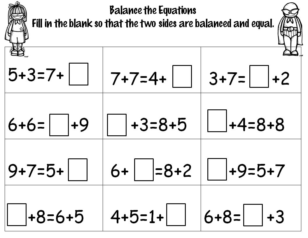 Number Sense Equations